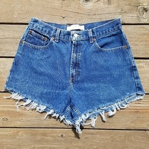 Crossroads high waisted distressed shorts